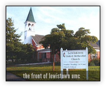 Lewistown Methodist Church viewed from front of building